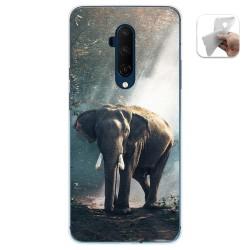 Funda Gel Tpu para Oneplus 7T Pro diseño Elefante Dibujos