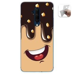 Funda Gel Tpu para Oneplus 7T Pro diseño Helado Chocolate Dibujos