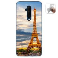 Funda Gel Tpu para Oneplus 7T Pro diseño Paris Dibujos