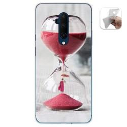Funda Gel Tpu para Oneplus 7T Pro diseño Reloj Dibujos