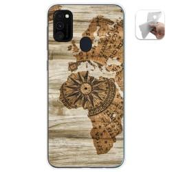Funda Gel Tpu para Samsung Galaxy M30s diseño Madera 07 Dibujos