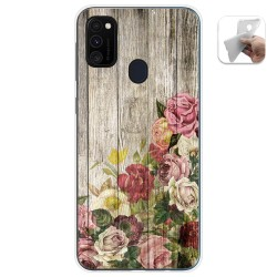 Funda Gel Tpu para Samsung Galaxy M30s diseño Madera 08 Dibujos