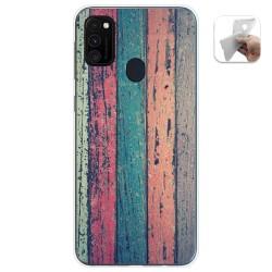 Funda Gel Tpu para Samsung Galaxy M30s diseño Madera 10 Dibujos