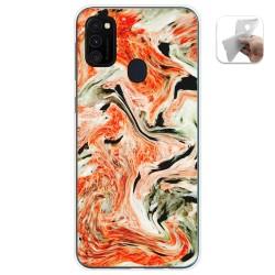 Funda Gel Tpu para Samsung Galaxy M30s diseño Mármol 12 Dibujos