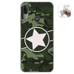 Funda Gel Tpu para Motorola Moto E6 Plus diseño Camuflaje 01 Dibujos