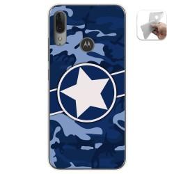 Funda Gel Tpu para Motorola Moto E6 Plus diseño Camuflaje 03 Dibujos