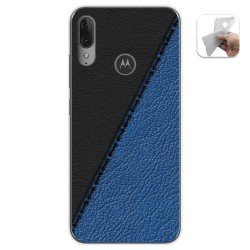 Funda Gel Tpu para Motorola Moto E6 Plus diseño Cuero 02 Dibujos