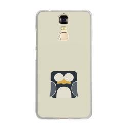 Funda Gel Tpu para Zte Blade A610 Plus  Diseño Pingüino Dibujos