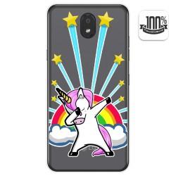 Funda Gel Transparente para Lg K30 diseño Unicornio Dibujos