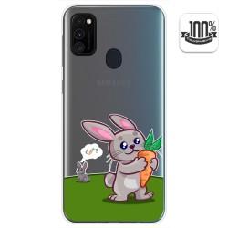 Funda Gel Transparente para Samsung Galaxy M30s / M21 diseño Conejo Dibujos