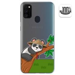 Funda Gel Transparente para Samsung Galaxy M30s diseño Panda Dibujos