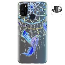 Funda Gel Transparente para Samsung Galaxy M30s diseño Plumas Dibujos