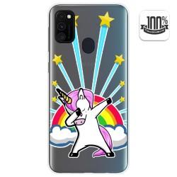 Funda Gel Transparente para Samsung Galaxy M30s diseño Unicornio Dibujos