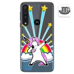Funda Gel Transparente para Motorola One Macro diseño Unicornio Dibujos