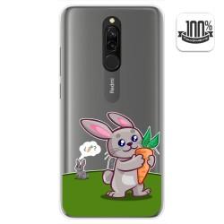 Funda Gel Transparente para Xiaomi Redmi 8 diseño Conejo Dibujos