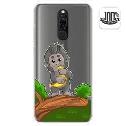 Funda Gel Transparente para Xiaomi Redmi 8 diseño Mono Dibujos