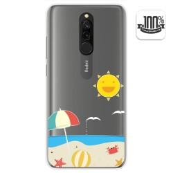 Funda Gel Transparente para Xiaomi Redmi 8 diseño Playa Dibujos
