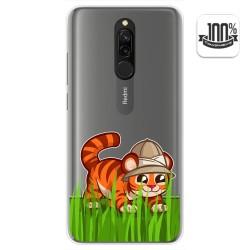 Funda Gel Transparente para Xiaomi Redmi 8 diseño Tigre Dibujos