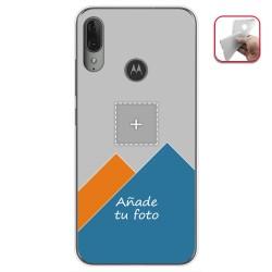 Personaliza tu Funda Gel Mate con tu Fotografia para Motorola Moto E6 Plus dibujo personalizada