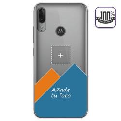 Personaliza tu Funda Gel 100% Transparente con tu Fotografia para Motorola Moto E6 Plus dibujo personalizada