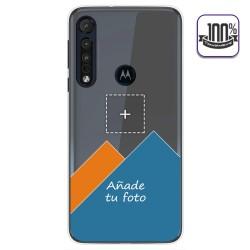 Personaliza tu Funda Gel 100% Transparente con tu Fotografia para Motorola One Macro dibujo personalizada