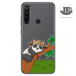 Funda Gel Transparente para Xiaomi Redmi Note 8T diseño Panda Dibujos