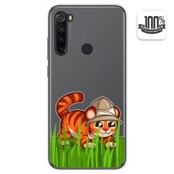 Funda Gel Transparente para Xiaomi Redmi Note 8T diseño Tigre Dibujos