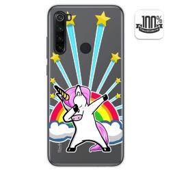 Funda Gel Transparente para Xiaomi Redmi Note 8T diseño Unicornio Dibujos