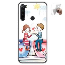Funda Gel Tpu para Xiaomi Redmi Note 8 diseño Café Dibujos
