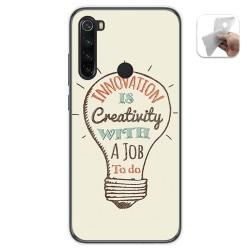 Funda Gel Tpu para Xiaomi Redmi Note 8 diseño Creativity Dibujos