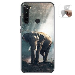 Funda Gel Tpu para Xiaomi Redmi Note 8 diseño Elefante Dibujos