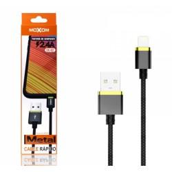 Cable de Carga Rápida con Conector Lightning 2,4A Marca Moxom