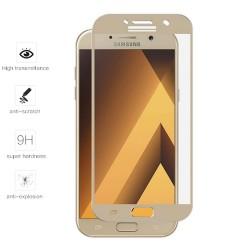 Protector Cristal Templado Frontal Completo Dorado para Samsung Galaxy A3 (2017) Vidrio