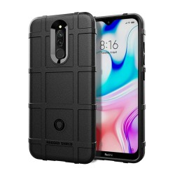 Funda Armor Rugged Shield Antigolpes para Xiaomi Redmi 8 color Negra