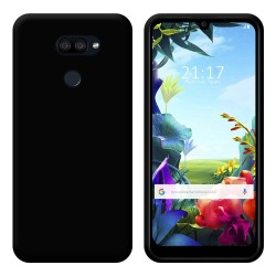 Funda Gel Tpu para Lg K40S Color Negra