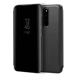 Funda Flip Cover Clear View para Xiaomi Redmi 8 color Negra