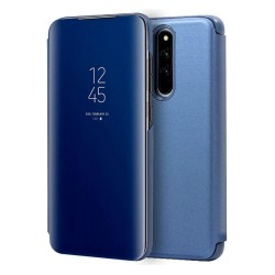 Funda Flip Cover Clear View para Xiaomi Redmi 8 color Azul