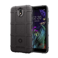 Funda Armor Rugged Shield Antigolpes para Lg K30 color Negra