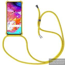 Funda Colgante con Cordon para Xiaomi Redmi Note 8 Pro color Amarillo