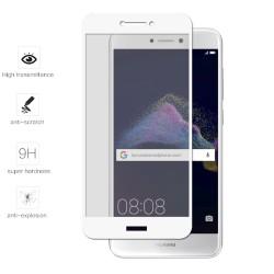 Protector Cristal Templado Frontal Completo Blanco para Huawei P8 Lite 2017 Vidrio