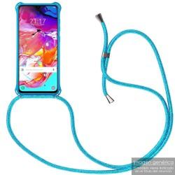 Funda Colgante con Cordon para Samsung Galaxy Note10+ Plus color Azul