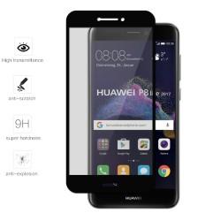 Protector Cristal Templado Frontal Completo Negro para Huawei P8 Lite 2017 Vidrio