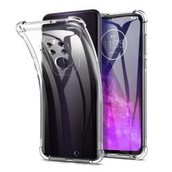 Funda Gel Tpu Anti-Shock Transparente para Motorola One Zoom