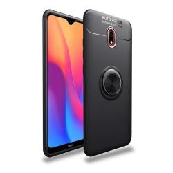 Funda Magnetica Soporte con Anillo Giratorio 360 para Xiaomi Redmi 8A Negra