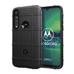 Funda Armor Rugged Shield Antigolpes para Motorola Moto G8 Plus color Negra