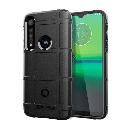 Funda Armor Rugged Shield Antigolpes para Motorola One Macro color Negra