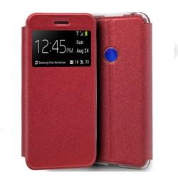 Funda Libro Soporte con Ventana para Huawei P Smart Z Color Roja