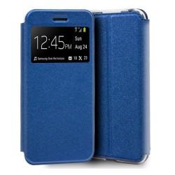 Funda Libro Soporte con Ventana para Huawei Y5 2019 Color Azul