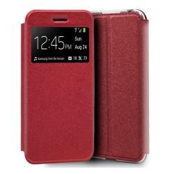 Funda Libro Soporte con Ventana para Huawei Y5 2019 Color Roja