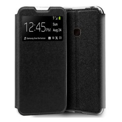 Funda Libro Soporte con Ventana para Samsung Galaxy A20e 5.8 Color Negra